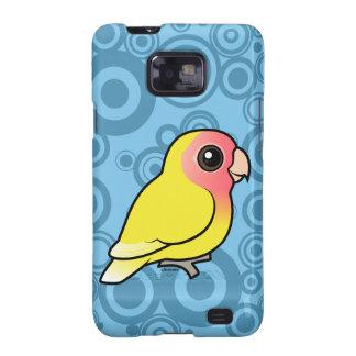 Lutino Melocotón-hizo frente al Lovebird Samsung Galaxy SII Carcasa