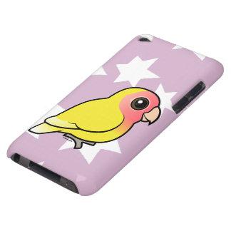 Lutino Melocotón-hizo frente al Lovebird iPod Case-Mate Cárcasa