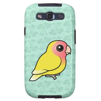 Lutino Melocotón-hizo frente al Lovebird Galaxy S3 Cárcasa