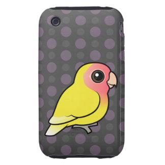 Lutino Melocotón-hizo frente al Lovebird Tough iPhone 3 Cárcasas