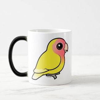 Lutino Melocotón-hizo frente al Lovebird Tazas De Café