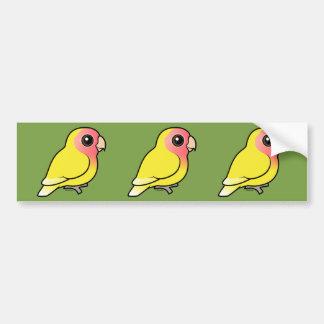 Lutino Peach-faced Lovebird Bumper Sticker