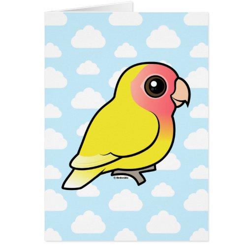 Lutino Peach-faced Lovebird Greeting Card