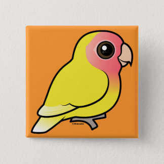 Lutino Peach-faced Lovebird Pinback Button