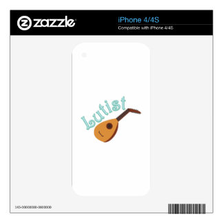 Lutist iPhone 4 Decal