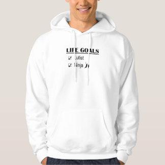 Lutist Ninja Life Goals Hooded Sweatshirt