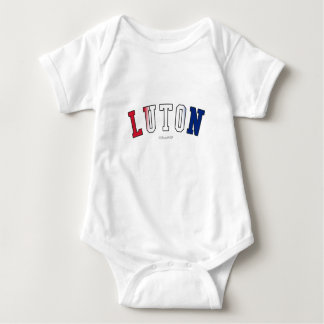 Luton in United Kingdom national flag colors Baby Bodysuit