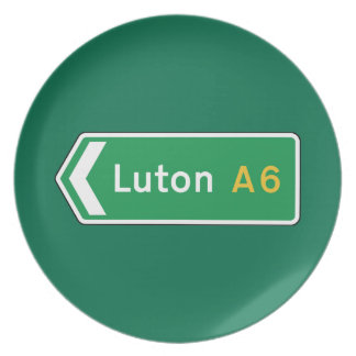 Luton señal de tráfico BRITÁNICA Platos
