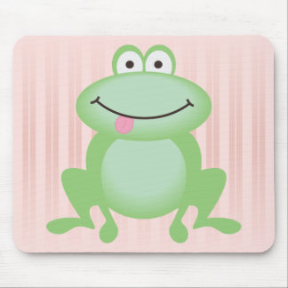 Luttle Green Frog Mouse Pads