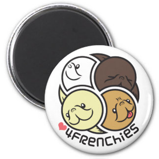 Luv 4 Frenchies Round Magnet