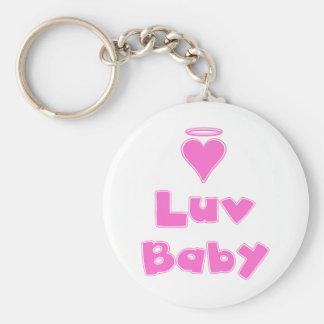 Luv Baby Angel Heart Basic Round Button Keychain