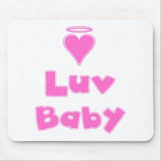 Luv Baby Angel Heart Mouse Pad