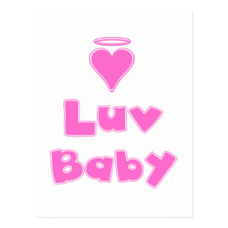 Luv Baby Angel Heart Postcard