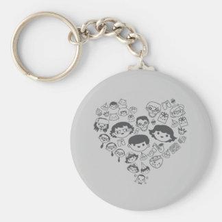 Luv Basic Round Button Keychain