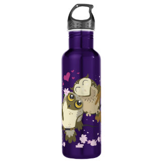 Luv Bird Owls~ recycled aluminum bottle 24oz Water Bottle