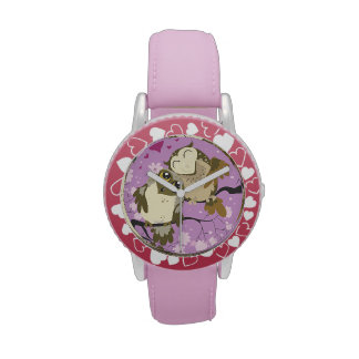 Luv Bird Owls wrist watch