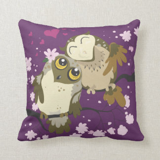 Luv Birds~ owl throw pillow
