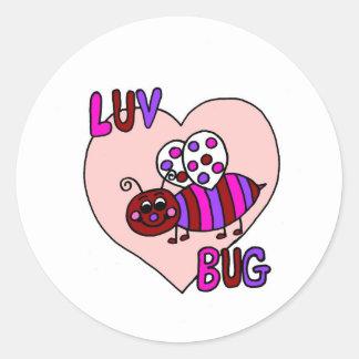 luv bug classic round sticker