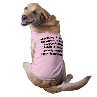 luv del perro playera sin mangas para perro