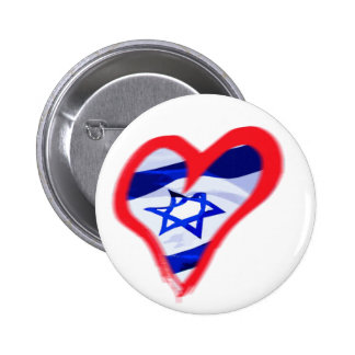 Luv Israel Heart Button