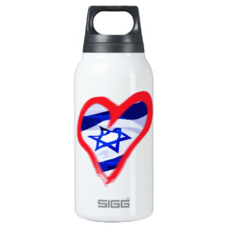 Luv Israel Heart Thermos Bottle