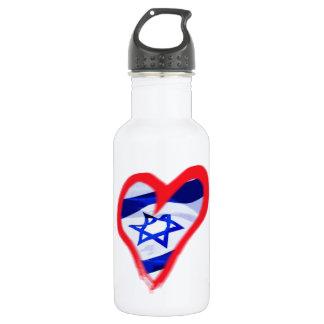 Luv Israel Heart Water Bottle