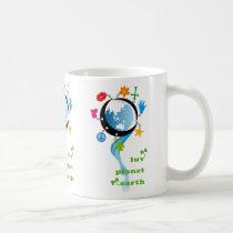 luv, planet, earth, Mug with custom graphic design