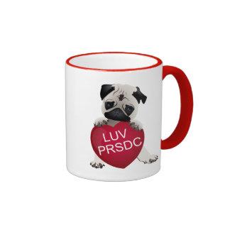 LUV PRSDC Pug Rescue of San Diego Co. Valentines Mug