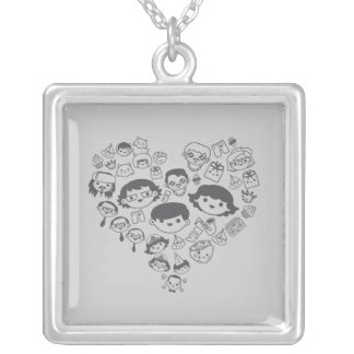 Luv Silver Plated Necklace