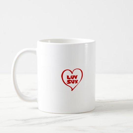 Luv sux coffee mug