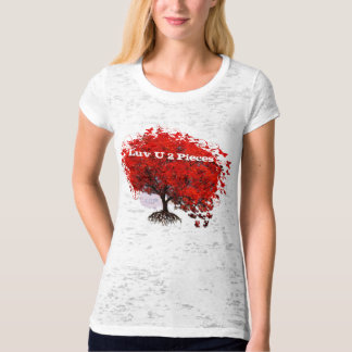 Luv U 2 Pieces T-Shirt Swirls Roots Puzzle Pieces