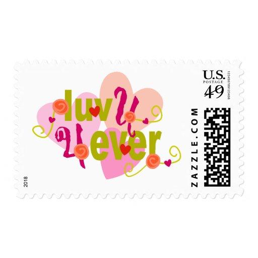 Luv U 4 Ever Valentine Postage
