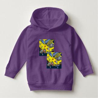 Luv U  ❤️ Luv Me car crazy purple hoodie by DAL