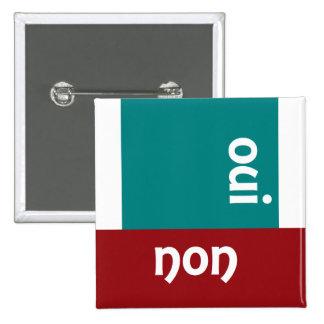 Luv U ❤️ Luv Me - oui/non? for Men Square Badge Button