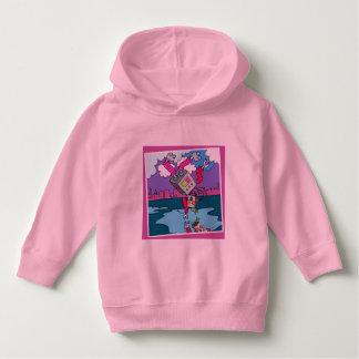 Luv U  ❤️ Luv Me pink toddler hoodie by DAL