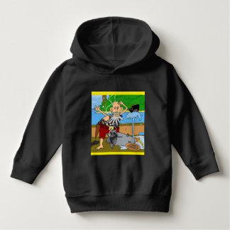 Luv U  ❤️ Luv Me pirate black hoodie by DAL