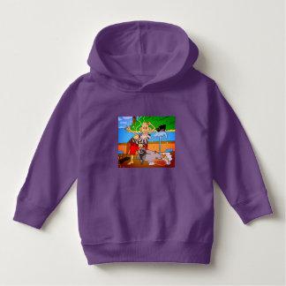 Luv U  ❤️ Luv Me pirate purple hoodie by DAL