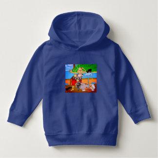 Luv U  ❤️ Luv Me pirate royal blue hoodie by DAL