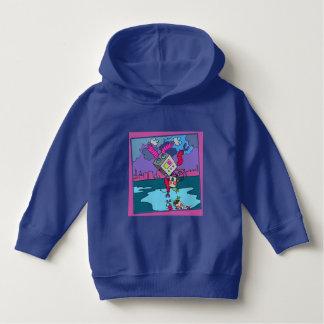Luv U  ❤️ Luv Me purple girl's hoodie by DAL
