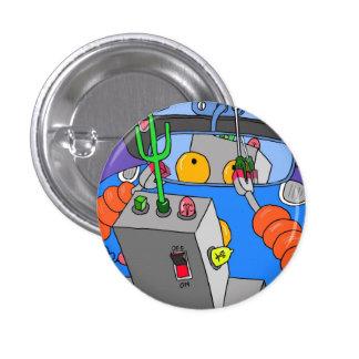 Luv U ❤️ Luv Me Robbie Robot Round Badge Button
