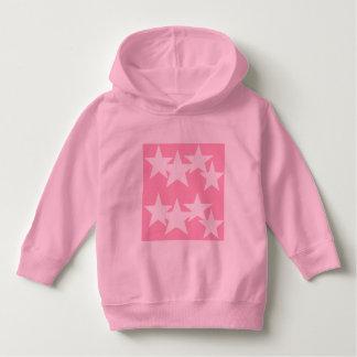 Luv U  ❤️ Luv Me stars on pink hoodie by DAL