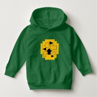 Luv U  ❤️ Luv Me toddler arrows on green hoodie