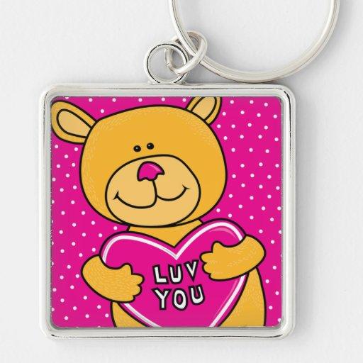 luv usted oso de peluche llaveros personalizados
