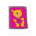 Luv usted oso de peluche postal