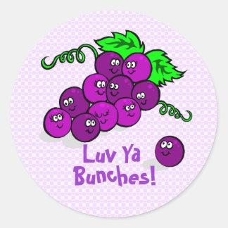 Luv Ya Bunches! Classic Round Sticker