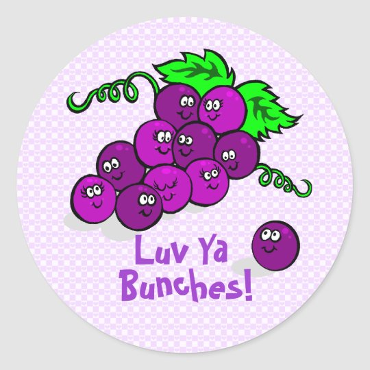 Luv Ya Bunches! Classic Round Sticker