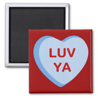 Luv Ya Conversation Candy Heart Gifts and Apparel Magnet