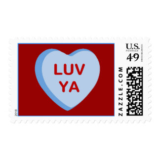 Luv Ya Conversation Candy Heart Gifts and Apparel Postage