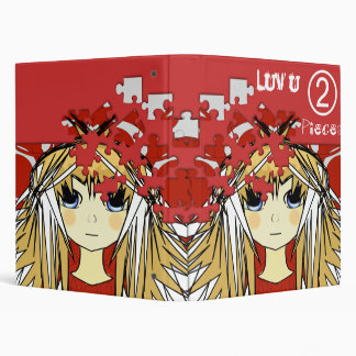 Luv You 2 Pieces Cute Anime Girls Binder