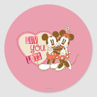 Luv You Lots Classic Round Sticker